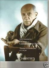 CHRISTIE'S Ceramics Prints Pablo Picasso MADOURA Auction Catalog 2007