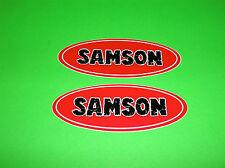 SAMSON EXHAUST HARLEY DAVIDSON MOTORCYCLE CRUISER METRIC BIKE STICKERS DECALS