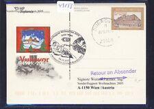 49153) AUA SF Weihnachten Wien - Vatikan 24.12.2005, stat. card Kroatien