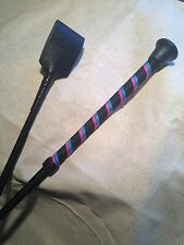 "20.5"" Pink Black & Blue  Whip Bondage fetish"