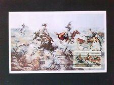 USA MK 1970 PFERDE PFERD HORSE COWBOY MAXIMUMKARTE MAXIMUM CARD MC CM c8864