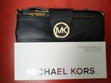 Michael Kors Fulton Crossbody Black Leather Bag For Ipad Mini With Retina Displa