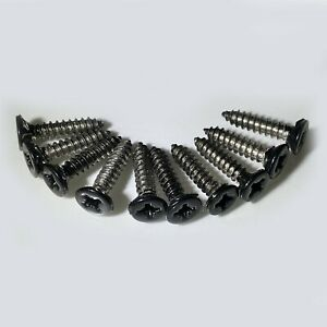 10 x No8 4.2mm x 19mm Black Stainless Steel POSI COUNTERSUNK Self Tapping Screws