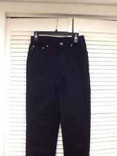 """New, Ralph Lauren Black Straight Legged, 5 Pocket jeans, Size 4, 33"""" Inseam,NWOT"""