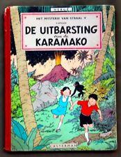 Hergé - Jo, Suus en Jokko - De uitbarsting van de Karamako - 1ste druk 1952