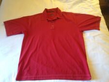 Tiger Woods Nike Golf Dri-fit Size XL Red W Dewars Logo