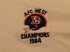 vintage denver broncos poloshirt 1986 afc champions m weiß bestickt nfl