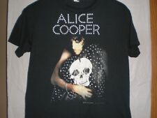 Official Alice Cooper Vintage Poster T-Shirt Dirty Diamonds Trash Lace And Whisk