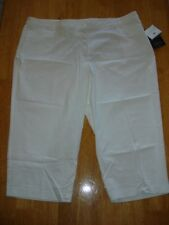 SAGHARBOR Plus Size 24W Stretch Slimming White Cropped Pants Bermuda capris New
