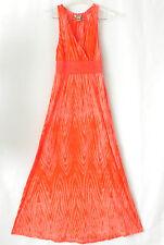 Lucky Brand Maxi Dress Empire Waist Cotton Blend Orange Size PS