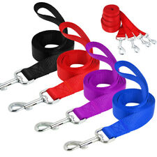 10pcs/lot 4ft Dog Leads Clip Nylon Rope Pet Walking Leash Black Red Blue Purple