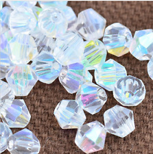 swarovski Crystal 4mm 5301# Bicone Beads white ab 500pcs