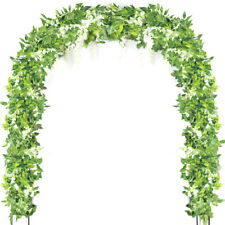 Artificial Flowers Wisteria Garland Vine Wreath Rattan Hanging for Home Wedding