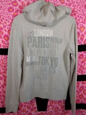 Victoria's Secret Supermodel Essentials Glitter Bling Hoodie NWT Large RARE