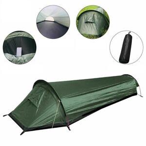 Outdoor Camping Tent Tunnel Ultralight Travel Sleeping Area Green Waterproof