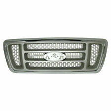 for 2004 2008 Ford Pickup Lightduty Grille 4WD XL Model, Chrome/Silver, BAR Type