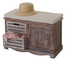 Serie Vintage panca cassettiera Ascoli legno di paulonia 32x71x49cm marrone