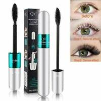 2 in1 4D Silk Fiber Eyelash Mascara Extension Makeup Waterproof Black Eye Lashes