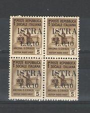 Q6141 - ISTRIA 1945 - QUARTINA ** N°22 - VEDI FOTO