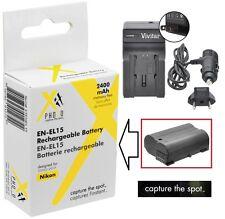 Hi Cap. XT ENEL15 Li-Ion Battery & 110/220V Charger for Nikon D800 D800e D810