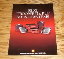 Original 1985 1986 Isuzu Trooper II & P'UP Sound Systems Sales Brochure 85 86