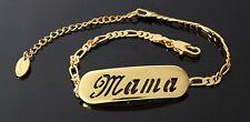 Mama-Pulsera Con Nombre-de 18 quilates chapado en oro amarillo plateado-Regalos Para Ella