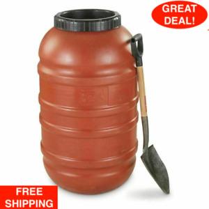 58 GAL BARREL US Military Surplus Waterproof Food Grade Rubber Gasket Lid PLASTI