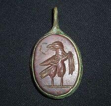 Roman bronzo antico e Aquila amuleto pietra/Ciondolo intorno al 200-300 ad -5570