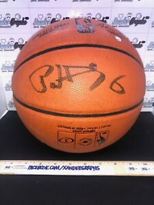 PATRICK EWING STEINER SIGNED AUTOGRAPHED FULL SIZE BASKETBALL KNICKS COA