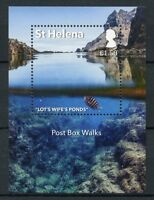 St Helena 2017 MNH Post Box Walks 1v M/S Tourism Landscapes Fish Fishes Stamps