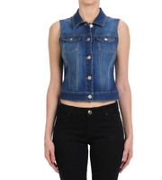 Denim Women's Classic Vest w Flip Pockets