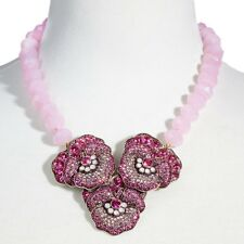 Heidi Daus Pleasing Pansy Necklace SWAROVSKI CRYSTALS BEAUTIFULLY MAGNIFICENT!