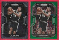 🏀🔥 2020-21 Prizm Tim Duncan Green Prizm #30 W/ Base San Antonio Spurs 🔥 🏀