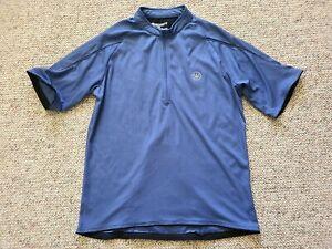 EUC Canari Men's Short Sleeve 1/2 Zip Cycling Jersey Color Blue Size Medium M