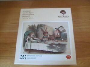 """Wentworth """"Wooden Jigsaw 250 Piece Mad Tea Party   Alice In Wonderland"""
