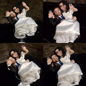 Clay Lookalike Wedding Cake Toppers