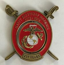 USMC United States Marine Corps Happy Birthday Marines 1775-2012 Spinning Middle