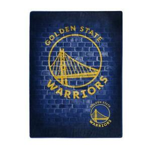 Golden State Warriors 60x80 Street Design Royal Plush Raschel Throw Blanket [NEW