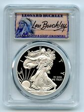 2015 W $1 Proof American Silver Eagle 1oz PCGS PR69DCAM Leonard Buckley