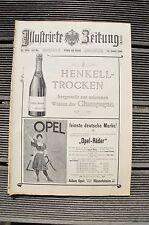 Illustrirte Zeitung Leipzig und Berlin 1899 Nr. 2931 TOP RAR !! Werbung