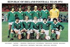 REPUBLIC OF IRELAND TEAM PRINT 1974 (KINNEAR/MANCINI/GILES/HEIGHWAY)