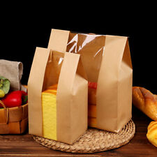 50 Packs Brown Kraft Paper Gift Bags Candy Packaging Recyclable Food Bread Bags