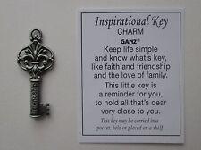 s Friendship POCKET TOKEN inspirational KEY charm pendant simple ganz friend