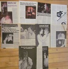 Meat Loaf, Lot of SIX Full, Two and Three Page Vintage Clippings