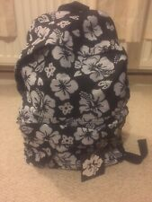 Brand New Small Black And Grey Floral Backpack/bag