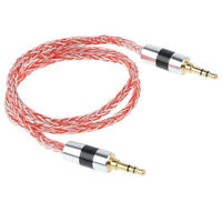 Universal 3.5mm Car Aux Cord 4 Strands 19-core Braided Audio Cable for Phone