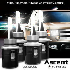 9005 HB3 9006 HB4 LED Headlight Kits Power Bulbs 6000K Fit Chevrolet Camaro 1998