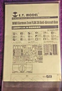 ET Model 1:35 Flak 38 AA Gun P/E Detail Upgrade Set for Trumpeter Kit 02309 E.T.
