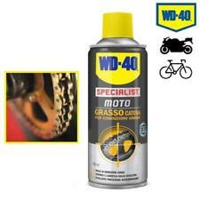 GRASSO LUBRIFICANTE CATENA MOTO WD-40 400ML SPRAY ANTICORROSIONE/ANTIRUGGINE