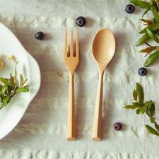 Dinnerware Set Wooden Fork Scoop Cutlery Teaspoon Salad Fork Kitchen Tool kim